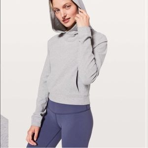 Lululemon Nice & Natural Popover Heathered Grey 6